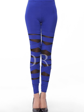 Pure Color Perspective Tight Women's Leggings