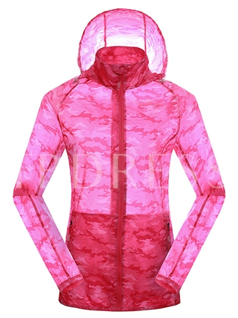 Camouflage Print Quick-Drying Women's Windbreaker (Plus Size Available)