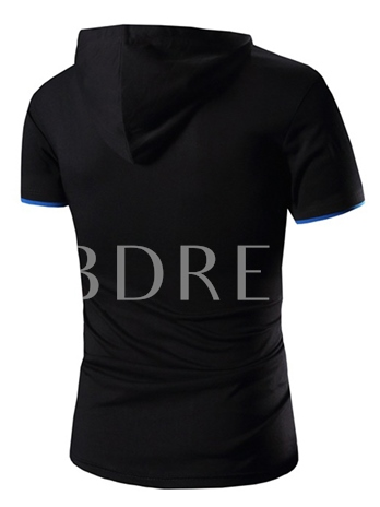 Men's Joint Solid Color T-shirt with Slim Fit