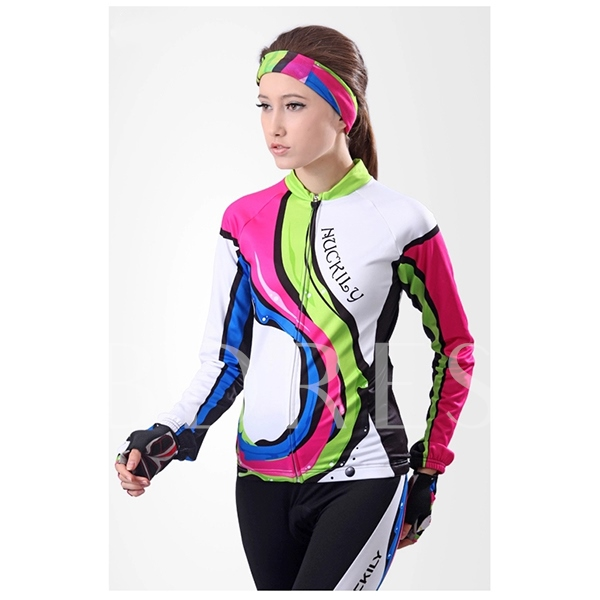 Women's Colorful Breathable Long Sleeve Cycling Jersey