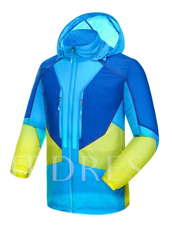 Lightweight Assorted Color Hoodie Men's Windbreaker (Plus Size Available)