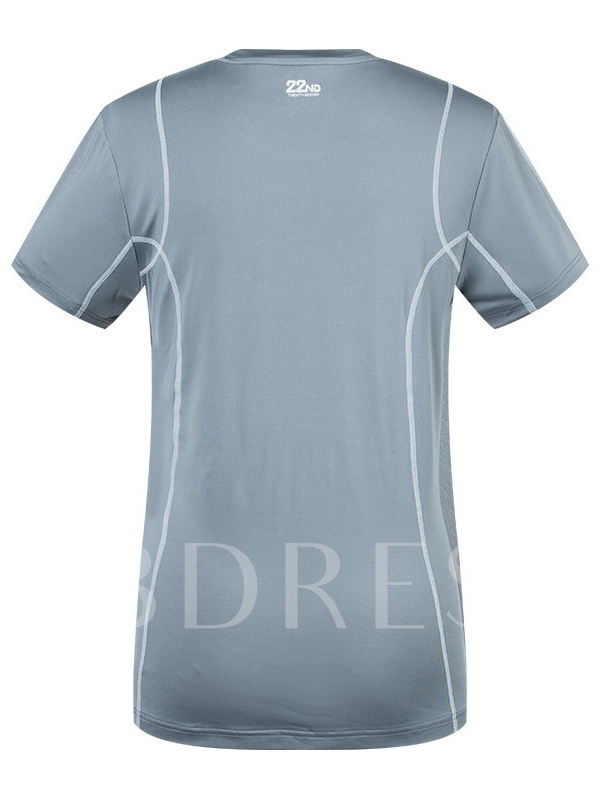 Men's Round Collar Breathable Leisure Quicky Dry Short Sleeve T-shirt