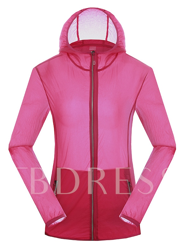 Solid Color Quick-Drying Women's Windbreaker (Plus Size Available)