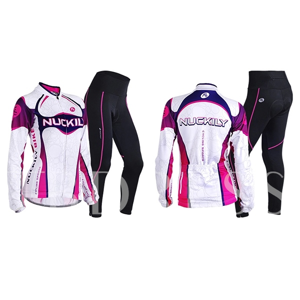 Purple Contrasting Color Women's Cycling Jersey