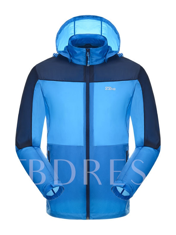 Assorted Color Lightweight Men's Skin-Friendly Windbreaker (Plus Size Available)