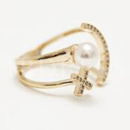 Smiling Face Pearl Ring