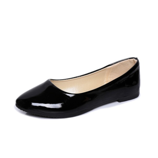 Plain Slip-On Flat Heel Square Heel Women's Flats