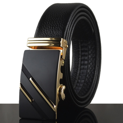 Solid Alloy Automatic Buckle Men's Belt