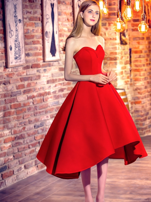A-Line Sweetheart Asymmetry Prom Dress