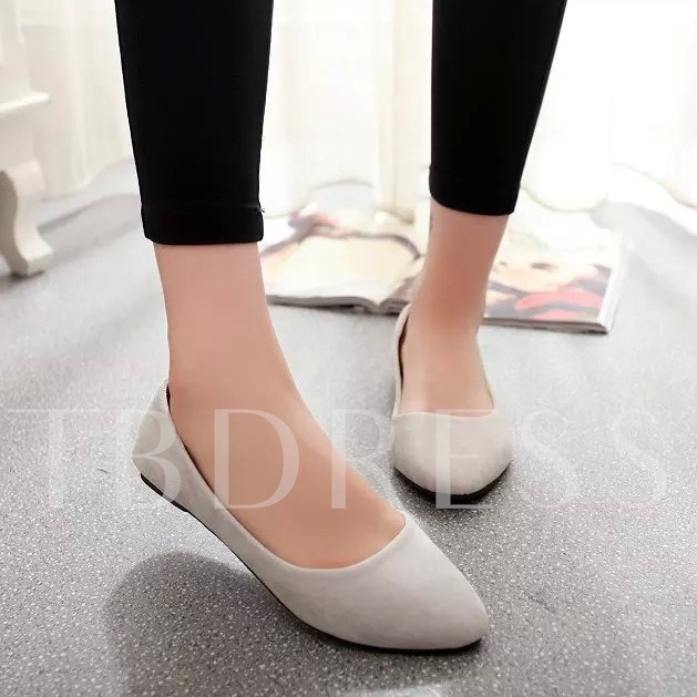 Round Toe Slip-On Plain Women's Flats