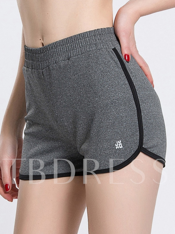 Contrast Strap Quick Dry Women Running Shorts