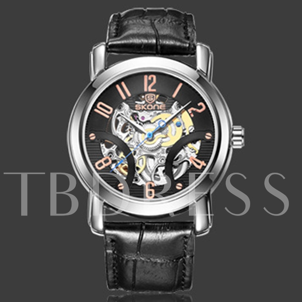 Trendy Pin Buckle Mechanical Men's Watch
