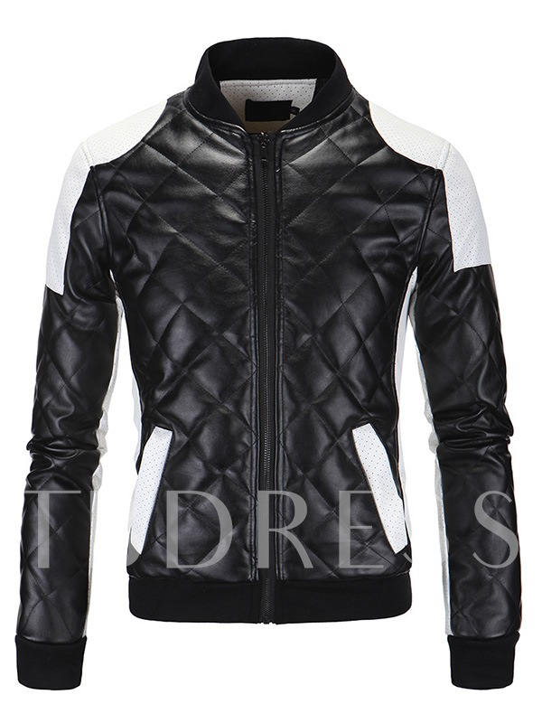 Men's Two-tone Jacket with Tinny Dots