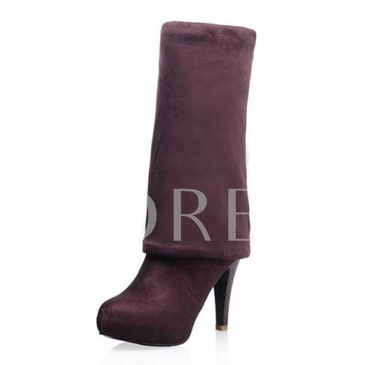 Round Toe Stiletto Heel Over-Knee High Boots