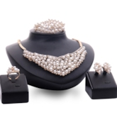 Alloy Pearls Four Pieces Jewelry Set