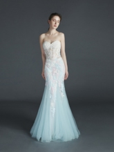 Sweetheart Mermaid Appliques Floor-Length Evening Dress