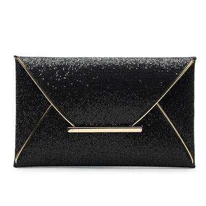 Fashion Shining Galaxy Envelope Type Women's Clutch Bag