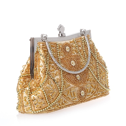 Deluxe Exquisite Jewel Decorated Handcraft Women's Clutch Bag