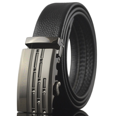 Men's PU Belt with Automatic Buckle