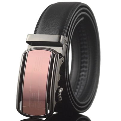 Dress Automatic Buckle Black Men's Belt