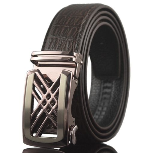 Hollow-Out Automatic Buckle Design Men's Belt