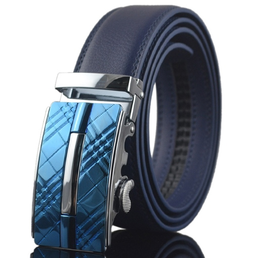 Creative Blue Automatic Buckle Men's Belt