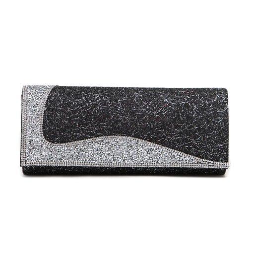 Exquisite Color Block Sequins Embellished Women's Clutch Bag
