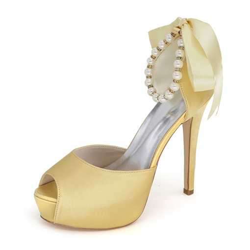 Pearls Stiletto Heel Wedding Shoes