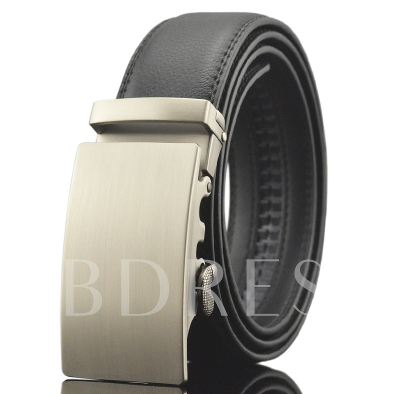 Business Automatic Buckle Black Men's Belt