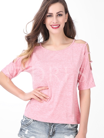 Loose Three-Quarter Sleeve Women's T-Shirt