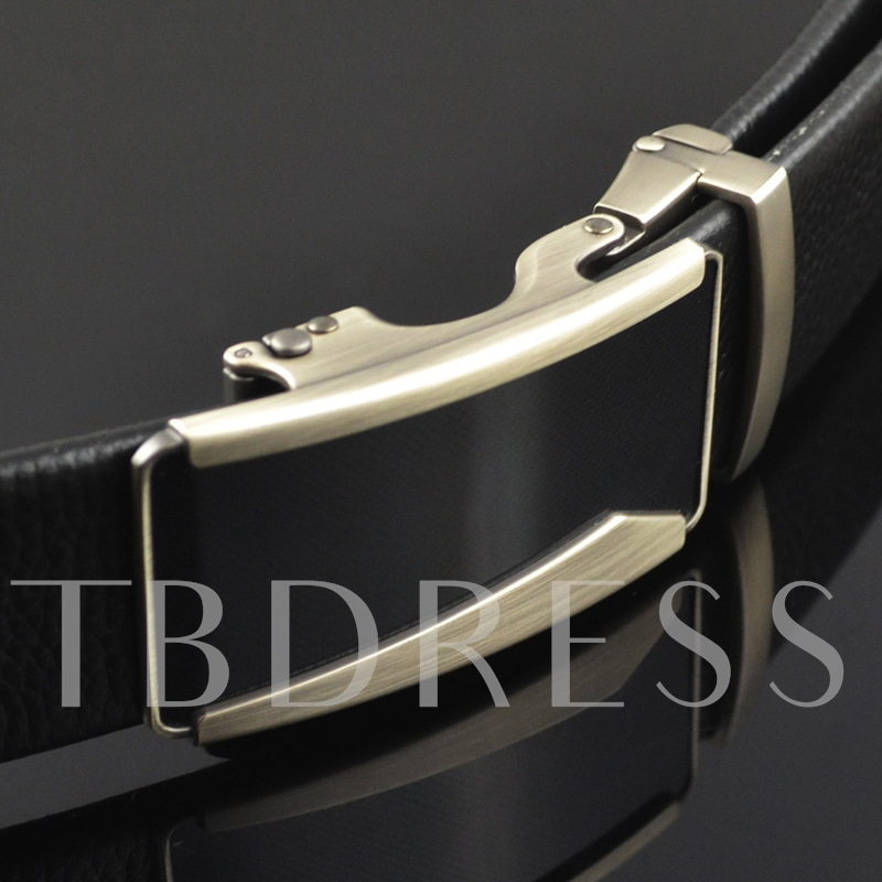 Men's Sliding Buckle Ratchet Automatic Belt