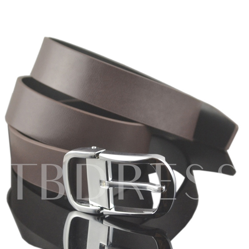Alloy Pin Buckle Coffee Belt for Men
