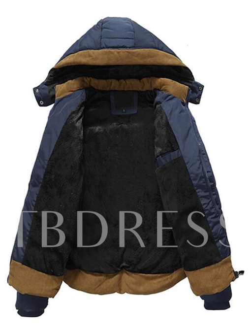 Detachable Hooded Side Pocket Thicken Warm Casual Men's Winter Coat