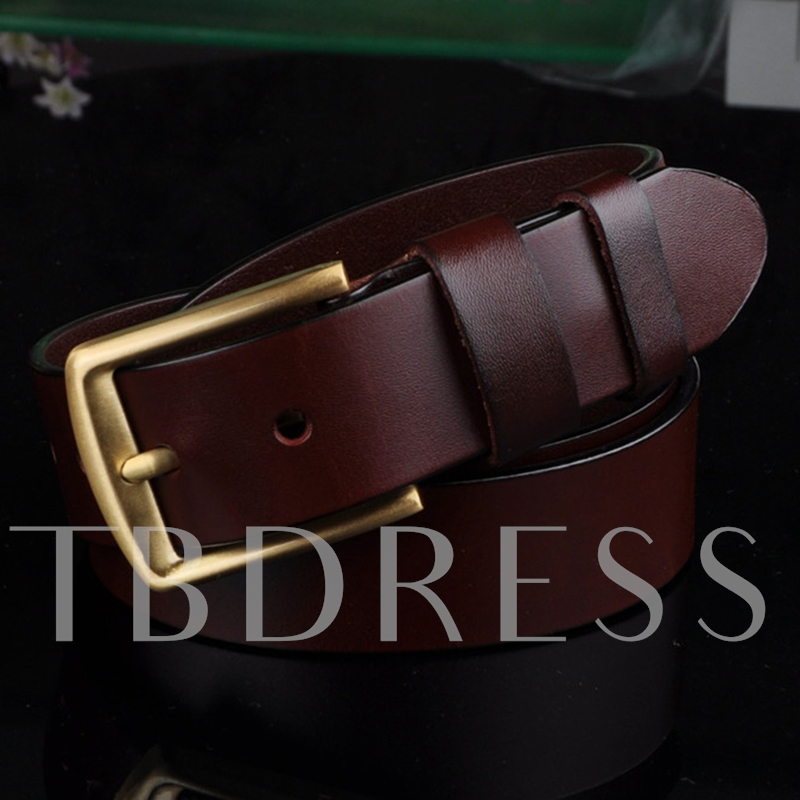 Alloy Artificial Leather Pin Buckle Men's Belt