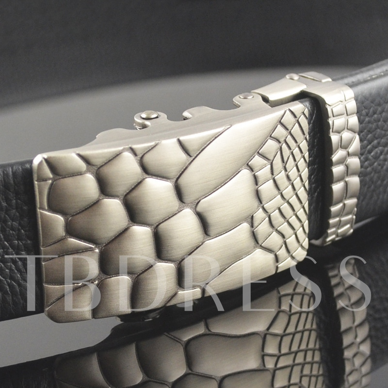 Pattern Design Automatic Buckle Men's Belt