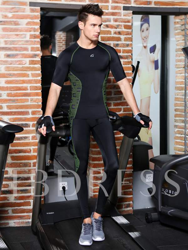 Short Sleeve Set Fitness Men's Sports Suit