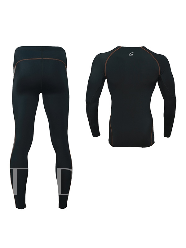 Fitness Long Sleeve Pants Men's Running Sports Suit