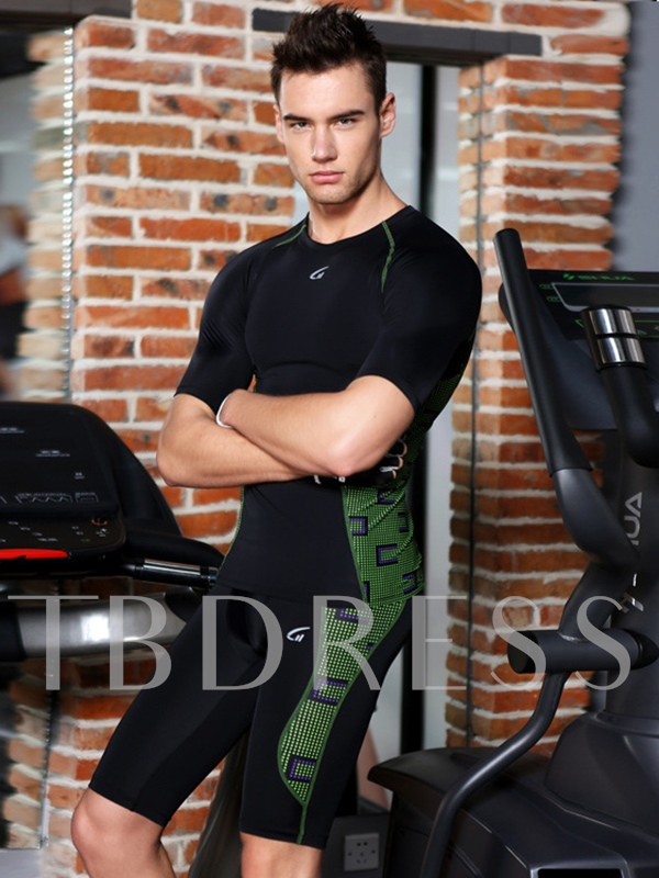 Fitness Short Sleeve Gym Men's Running Sports Suit