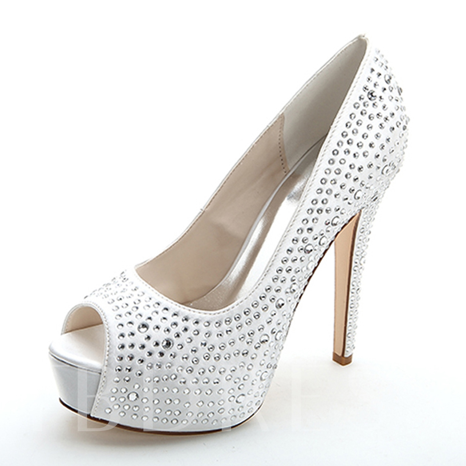 Buy Buckle Stiletto Heel Platform Rhinestone Women's Wedding Shoes, Spring,Summer,Fall, 12225843 for $62.99 in TBDress store
