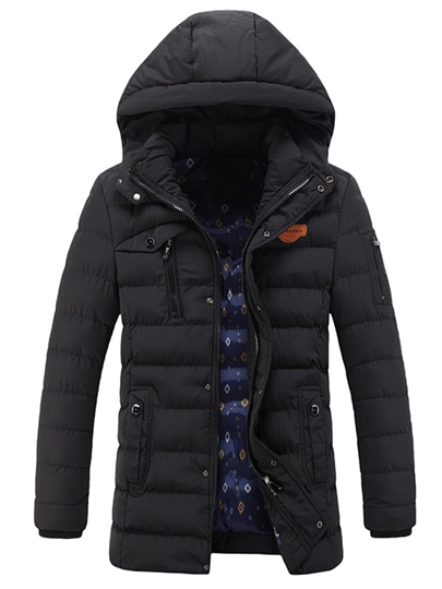 Men's Cotton Coat with Poly Lined