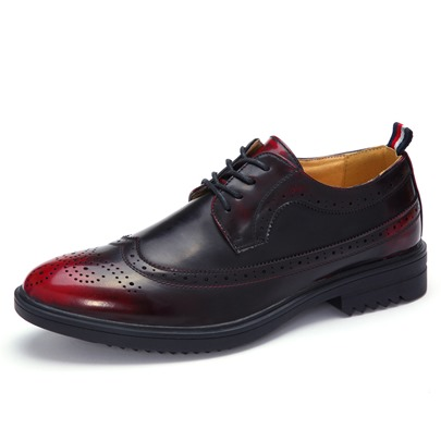 Round Toe Hollow Lace-Up Men's Oxfords