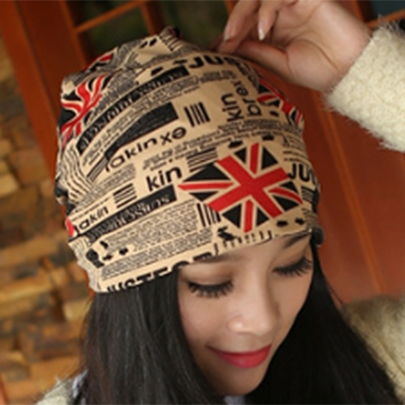 Multi Color Korean Union Flag Print Hat