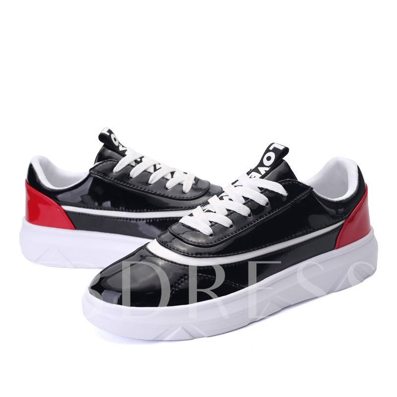 Buy Round Toe Color Block Flat Low Heel Cross Strap Men's Sneakers, Spring,Summer,Fall, 12219840 for $30.99 in TBDress store