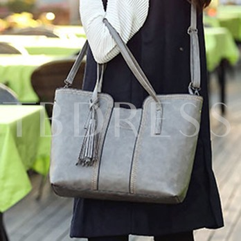 Concave-Convex Top Frosting Women's Tote Bag
