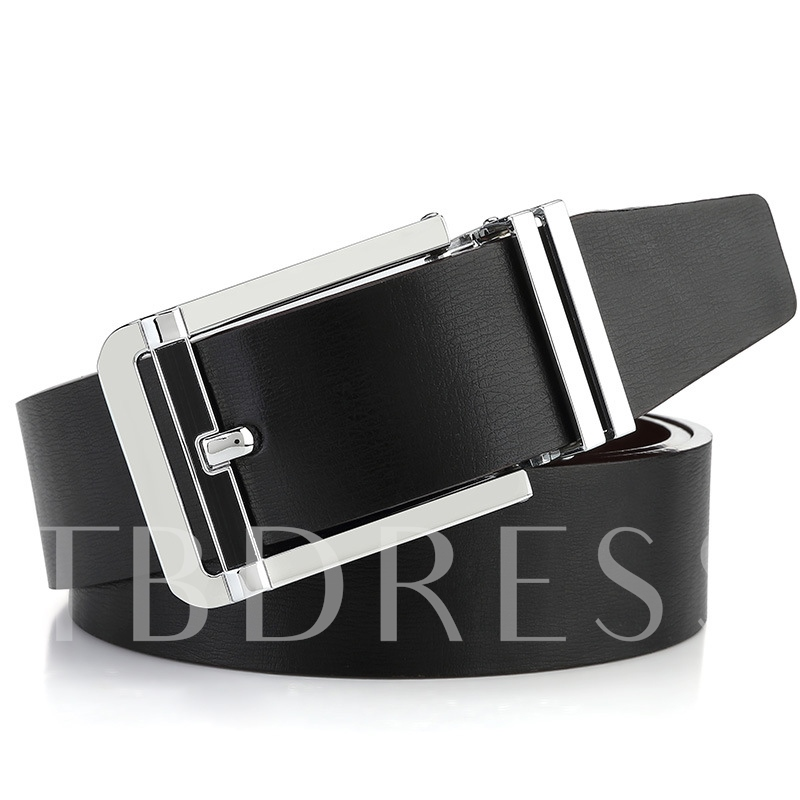 Concise All Matched Pin Buckle Men's Belt
