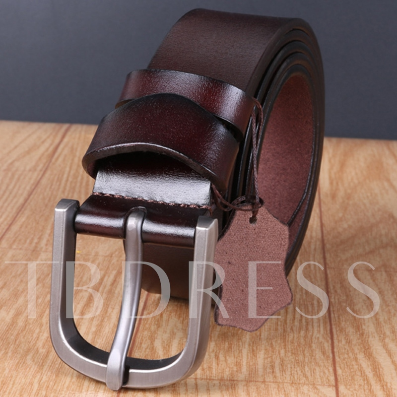 Retro Pin Buckle Artificial Leather Men's Belt