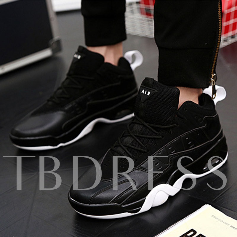 Round Toe Lace-Up Low-Cut Upper Men's Sneakers