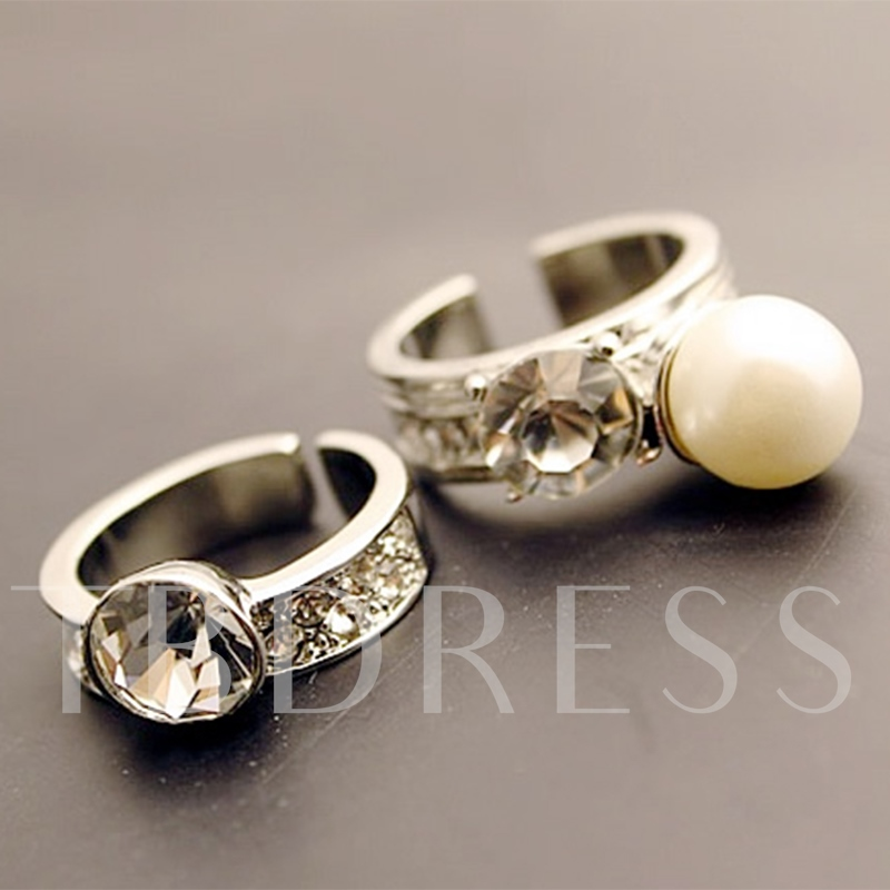 Imitation Pearl Exaggerated Ring