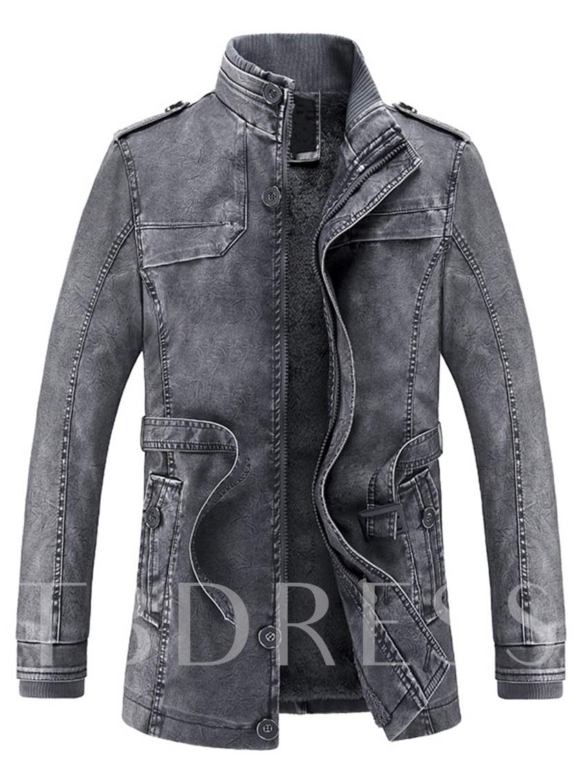 Men's Denim Coat with Sherpa Lined
