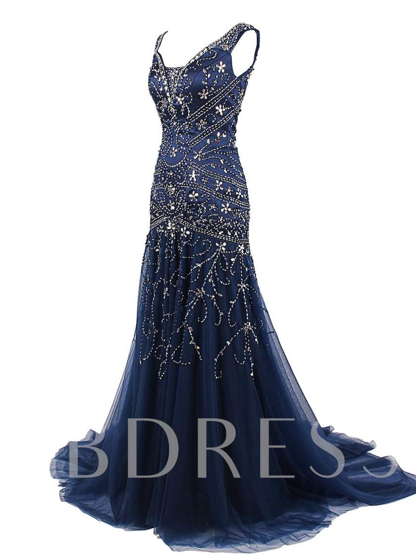 Luxurious Sequins Beading Mermaid Evening Dress